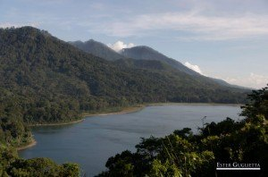 Asia, Bali, Indonesia, Lago Tamblingan, Munduk, Red Koral Cascada, Melanting Waterfall