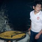 Tostando maíz