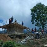 Construyendo la Stupa