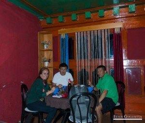En el restaurante en Paro