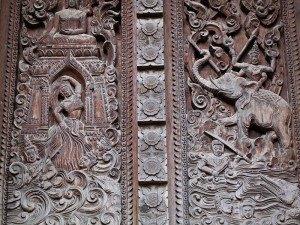 Wat Inpeng, detalle de una puerta
