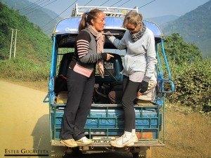 De regreso a Luang Prabang, muertas de risa