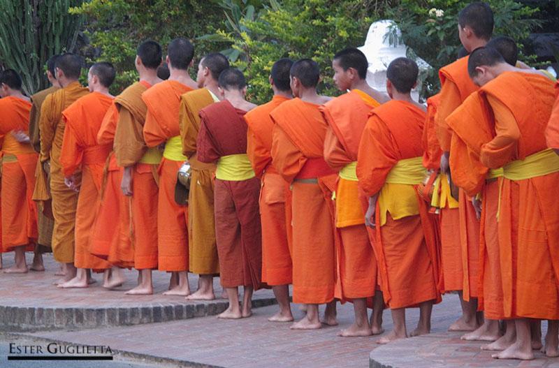 Desfile de monjes a las 6 de la mañana