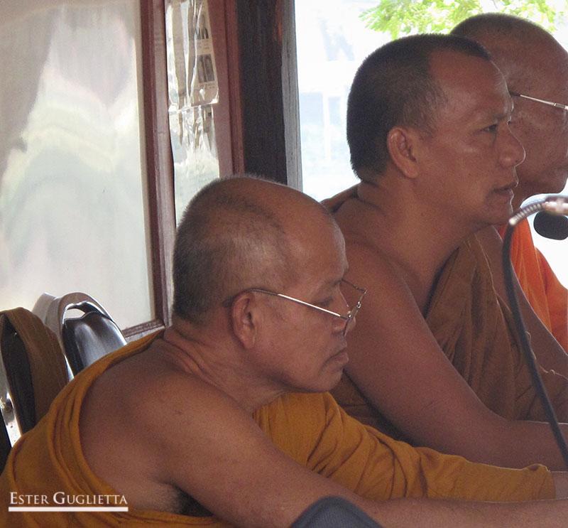 Monje director de la escuela Shanga Budista