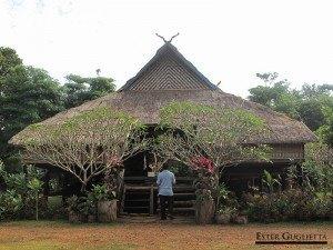 Casa típica laosiana