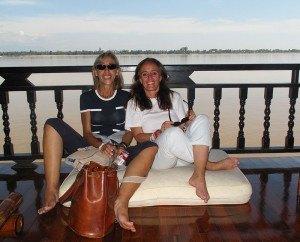 Herminia y yo en el barco
