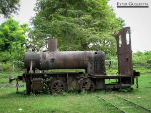 Locomotora en la isla de Don Khone