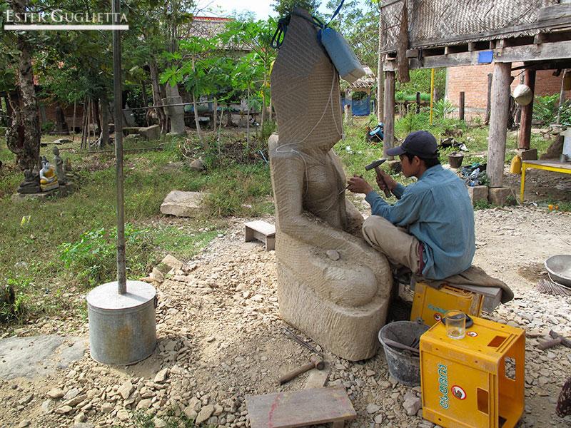 Bane Chomphet, pueblo de escultores