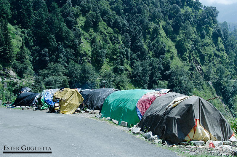 Viviendas de los trabajadores nepalíes