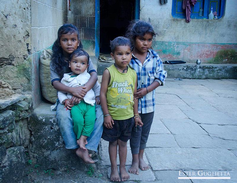 Niños del barrio de los intocables
