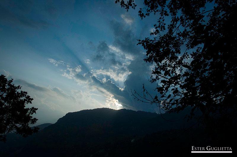 Puesta de sol en Sari gaon